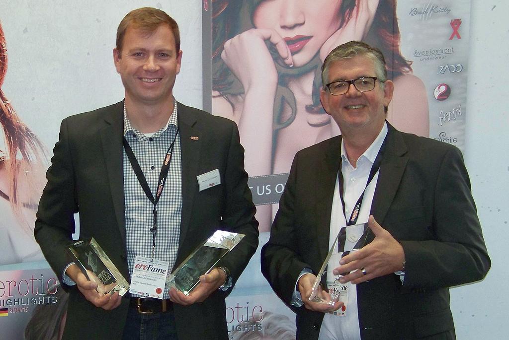 eroFame 2014 in Hannover:  Drei Auszeichnungen für den ORION Großhandel