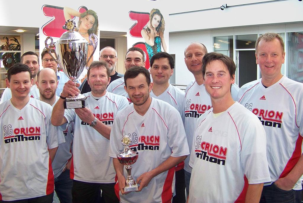 Sportlicher Höhepunkt: ORION/ Anthon wird Stadtmeister im Hallenfußball