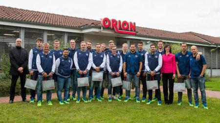 Saisonvorbereitung mal anders:  Die SG Flensburg-Handewitt besucht ihren Premiumpartner ORION
