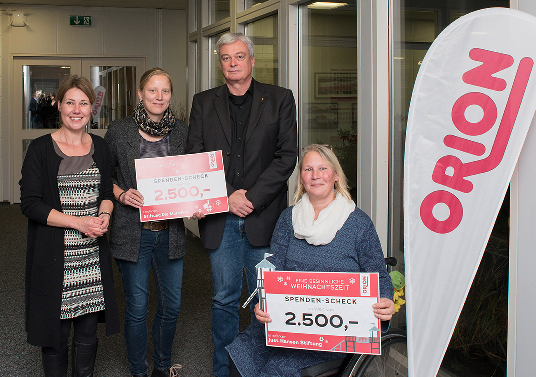 5000 € für die Inklusion in Flensburg: Die ORION Weihnachtsspende
