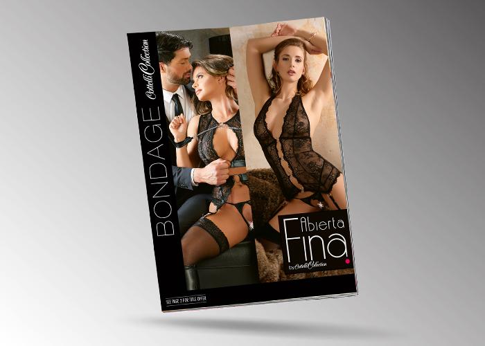 """Neues Werbemittel vom ORION Großhandel: Broschüre """"Abierta Fina"""" und """"Cottelli Collection Bondage"""""""