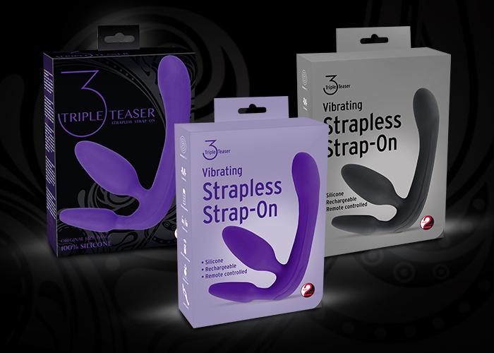 """Neu von You2Toys: Vibrating Strapless Strap-On """"Triple Teaser"""""""