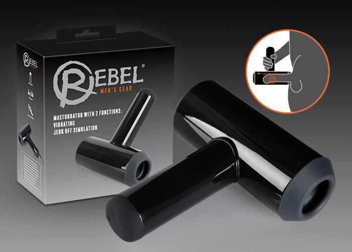 Masturbator mit Vibration und Handjob-Simulation von REBEL
