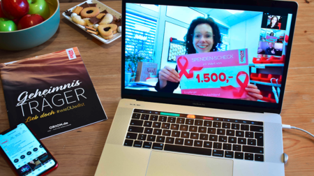 Pinke Vibratoren für den guten Zweck: ORION spendet 1500 € an Pink Ribbon